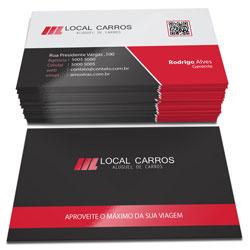 Cartão de Visita com Verniz Localizado Corte Reto