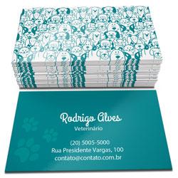 Cartão de Visita com Verniz Total