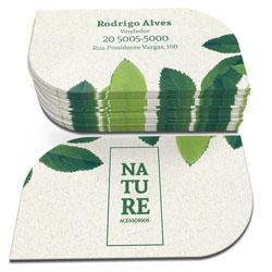 Cartão de Visita Reciclato Corte Folha