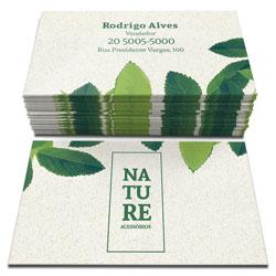 Cartão de Visita Reciclato Corte Reto