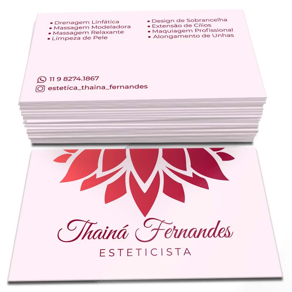 Cartão de Visita Thaina