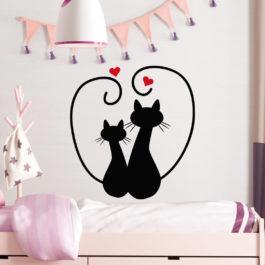 Casal de Gatinhos com Coração